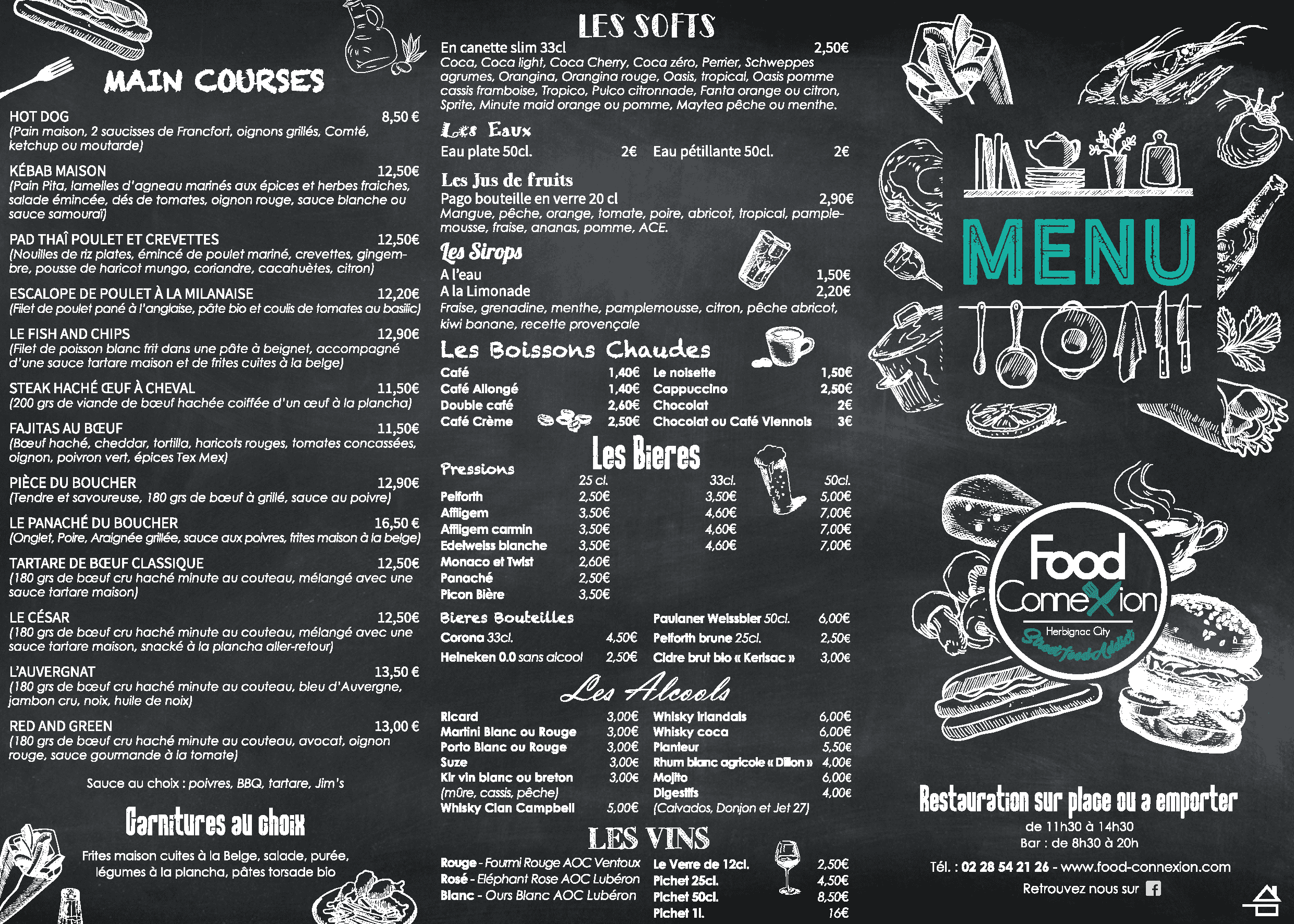 Food connexion Carte - Restaurant, Burgers, Salades